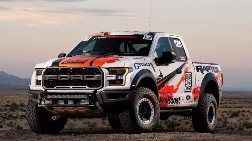 All New 2017 F 150 Raptor Race Truck Continues Ford S Tradition Of Demonstrating The Toughness And Durability Through Off Road Compeion